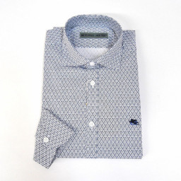GANT - Camicia uomo maniche lunghe fitted shirt ls bd west twill slim fit