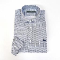 GANT - Camicia uomo maniche lunghe fitted shirt ls bd west twill slim fit